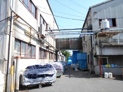 工場改修リフォーム施工事例 テント設置ビフォア